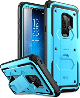 i-Blason Case Designed for Galaxy S9+ Plus (2018 Release), [Armorbox V2.0] [Full body] [Heavy Duty Protection ] [Kickstand] Shock Reduction / Bumper Case without Screen Protector (Blue)