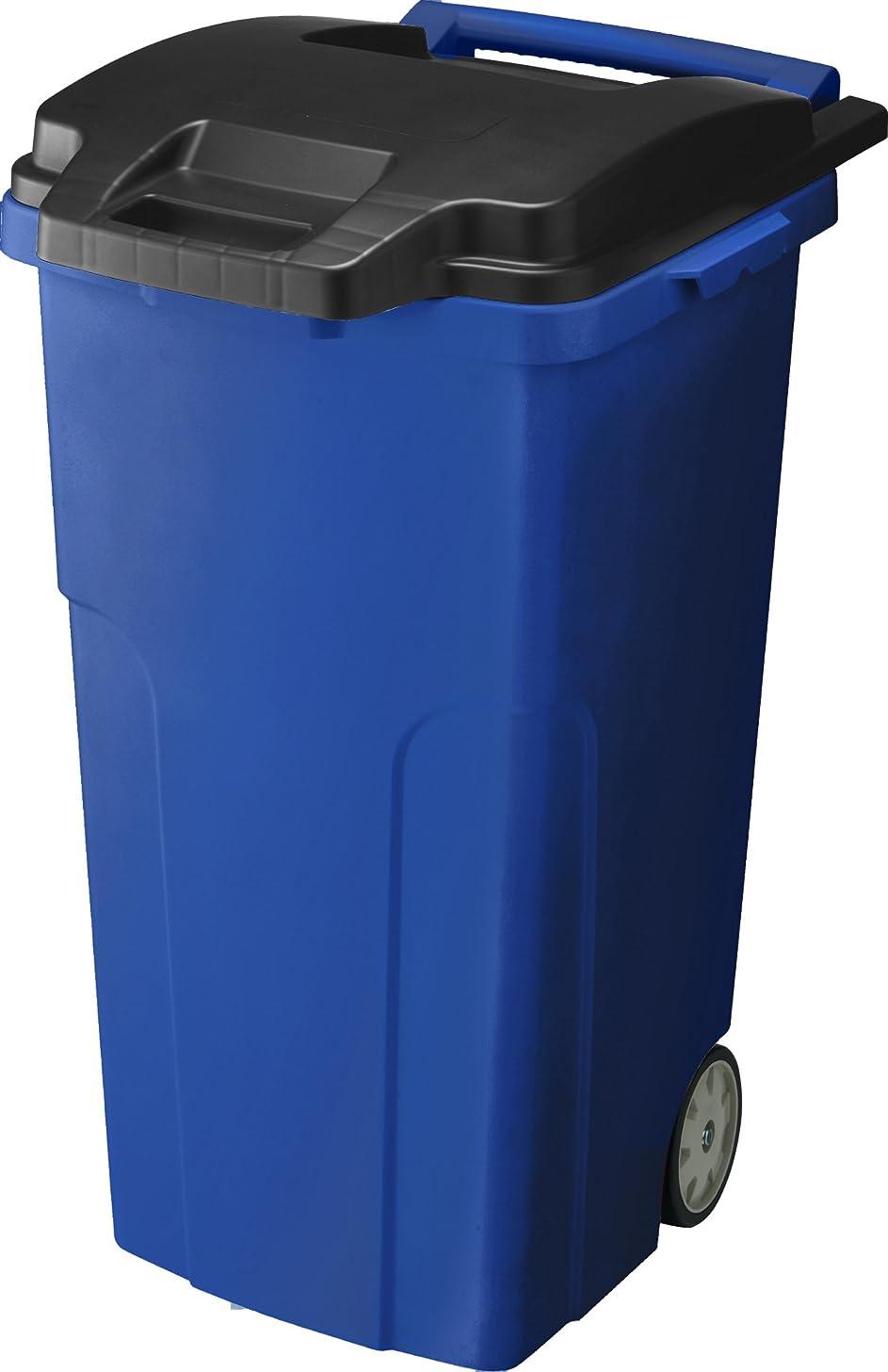 非公式平和チョークリス 『キャスター付ゴミ箱』 キャスターペール 90C4 90L 4輪 ブルー