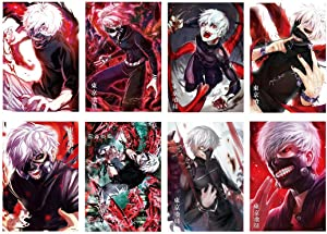 Toomilki Tokyo Ghoul Posters Japanese Anime Poster Art Prints for Home Wall Decor, Set of 8 PCS, 11.5in x16.5in