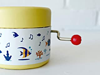 Little music box decorated with under the sea world and the melody Gymnopedie by Satie