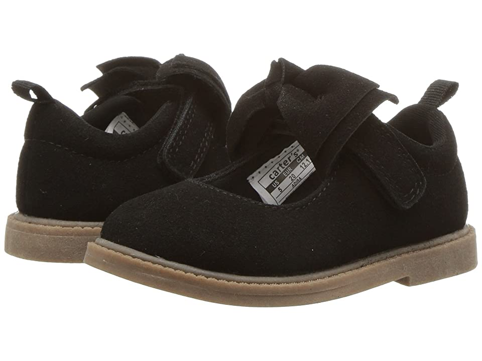 Carters Adira (Toddler/Little Kid) (Black PU Suede) Girl
