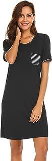 Women's Nightgown Sleep Dress Short Sleeve Summer Sleepwear Modal Sleepshirt Pajama Dress Nightshirt