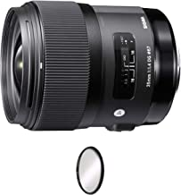 Sigma 35mm f/1.4 DG HSM Art Lens for Sony E + UV Protective Filter Combo