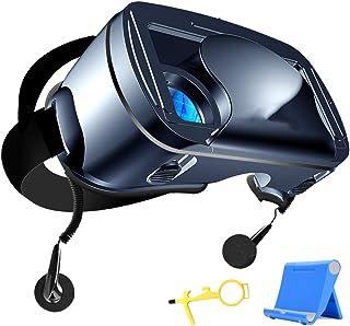 LPWCAWL Lunettes VR, Casques de Réalité Virtuelle pour Téléphone Portable, Lunettes VR 3D avec Écouteurs 3,5mm, FOV 120°, ...