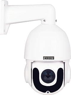 PTZ POE IP Camera Outdoor, 1080p Network Security IP Camera, Pan Tilt 18X Optical Zoom, 196ft Night Vision, Waterproof Sur...