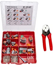 Deutsch DT Series Connector Kit DT-125 With Crimp Tool: Gray Environmentally Sealed Automotive Electrical Connectors 14-20 Gauge 125 Piece Kit With 4-Way Indent Crimp Tool
