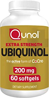 Qunol 200mg Ubiquinol, Powerful Antioxidant for Heart and Vascular Health, Essential for energy production, Natural Supple...