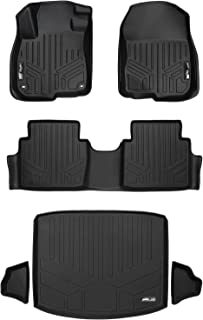MAXLINER Floor Mats 2 Rows and Cargo Liner (Factory Lower Deck Position) Set Black for 2017-2018 Honda CR-V