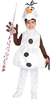 Olaf Halloween Costume for Boys, Frozen 2, Includes Headpiece and Wand