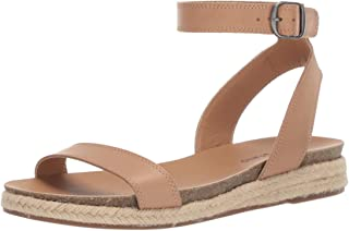 Lucky Brand Women's GARSTON Espadrille Wedge Sandal, Stone, 7 M US