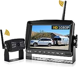 "$129 » Wireless Backup Camera, DOUXURY 170° Wide View 1080P HD IP69 Waterproof Night Vision Backup Camera + HD 7"" Monitor, Wirele..."