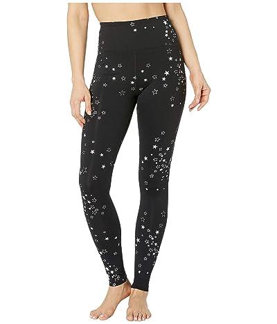 Spiritual Gangster Essential High-Waist Leggings (Stars Star Clusters Print) Women
