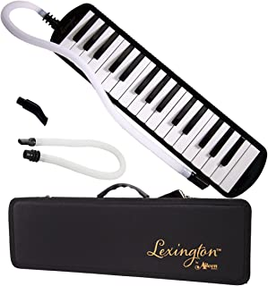 32 Piano Keys Melodica Made of Bronze Base and Reed, Package Includes 1 Carrying Case,1 Short, 2 Long Mouthpieces