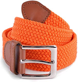 Stretch Braided Woven Belts without Holes, Elastic Casual Belts for Men and Women