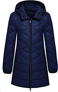 Women's Hooded Packable Ultra Light Weight Hip-Length Down Jacket