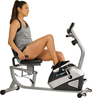 EFITMENT Magnetic Recumbent Bike Exercise Bike with High Weight Capacity, Easy Adjustable Seat, LCD Monitor with Pulse and Phone Holder - RB034