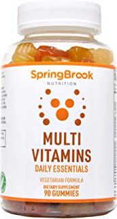 SpringBrook Nutrition Multivitamins Daily Essentials Gummy with Vitamin A, B, C, D, E, Zinc, Inositol, for Adults, 90 Gumm...