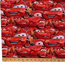 100/% Cotton Print Fabric CARS BUILT 4 SPEED Sold by the yard