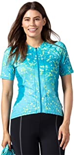 Terry Euro Jersey - Women`s Short Sleeve Cycling Jersey - Multi-Use - Athletic Fit - UPF 50 + Sun Protection
