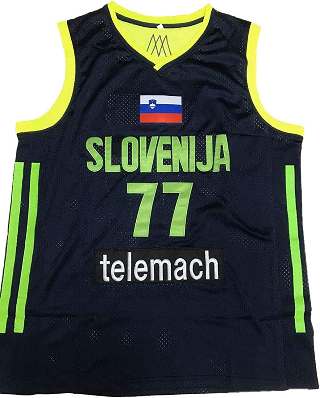Luka Doncic Stitch Indianapolis Mall Euro Basketball XS-3 League Jersey Patch Sale item Neon