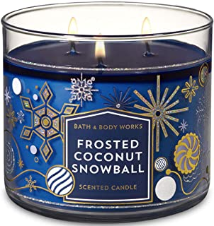 Bath and Body Works Est. 1990 Frosted Coconut Snowball 3-Wick Candle 2018