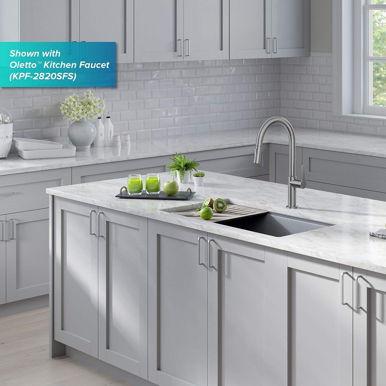 Buy Kraus Kguw2 33mgr Bellucci Workstation Undermount Granite Composite Single Bowl Kitchen Sink With Accessories 33 Inch Metallic Grey Online In Indonesia B087yzgdr6