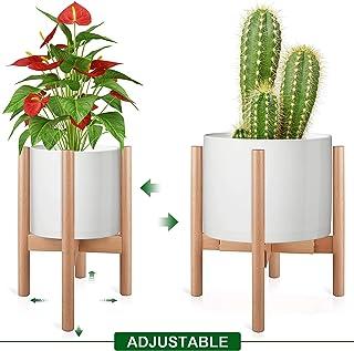 Milieu du Si/ècle en Bois Support de Pot de Fleurs Support de Plante en Bois pour Salon Salon Jardin Balcon Coin Porte Pot Plante