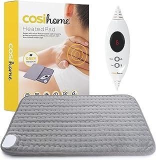 Cosi Home Verwarmingskussen, 60 x 30 cm, met microfleece overtrek, machinewasbaar elektrisch warmtekussen met automatische...