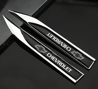 2pcs Auto car Dagger Fender Emblem Sticker Badge Decal fit for Racing sports CHEVROLET