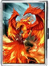 Fire Phoenix Design Stainless Steel ID Cigarettes Case Holder Stylish Credit Card Wallet