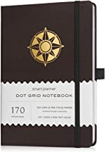 Smart Planner Dotted Journal - Thick 160gsm Premium Bleed-Proof Paper, 170 Numbered Dot Grid Pages, 5 x 8.3 inches, A5 Siz...