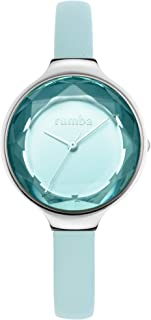 RumbaTime Orchard Gem Stainless Steel 30mm Sky Leather