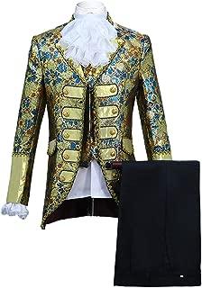Mens Classic Fashion Five-Piece Set Suit Palace Court Prince Costume