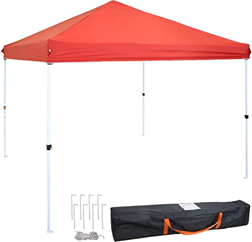 wholesale Sunnydaze 12- x 12-Foot Standard sale Pop Up Canopy with Carry Bag - Heavy Duty Portable Straight Leg Folding Outdoor Shade Shelter - Perfect outlet online sale for Tailgating, Parties and Markets - Red online