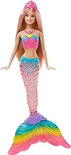 Barbie Dreamtopia Rainbow Lights Mermaid Doll, Blonde...