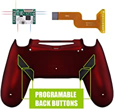 eXtremeRate Dawn Programable Remap Kit PS4 Scuf Reasignación de Botones para Playstaion 4 con Mod Chip&Carcasa Trasera&4 Botones Traseros Compatible con PS4 JDM 040/050/055(Rojo Esmerilado)