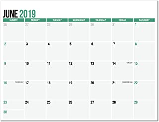 Magnetic Calendar Pad for Refrigerator, June 2019 to December 2020, 11 x 8.5, Thick Monthly Calendar Paper, Strong Fridge Magnets, 2019-2020 Academic (19 Months)