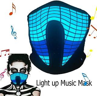 Halloween Mask Neon Mask led mask Scary Mask Light up Mask Cosplay Mask Lights up for..
