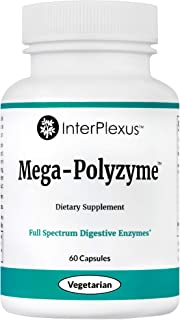 Mega-Polyzyme – Digestive Enzyme Supplement with Bromelain – Breakdown fats, Carbohydrates & Proteins – Gluten free, Soy f...