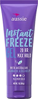 20-Hour Hold Hair Gel - Aussie Instant Freeze Hair Gel with Jojoba Oil & Sea Kelp, 7.0 oz
