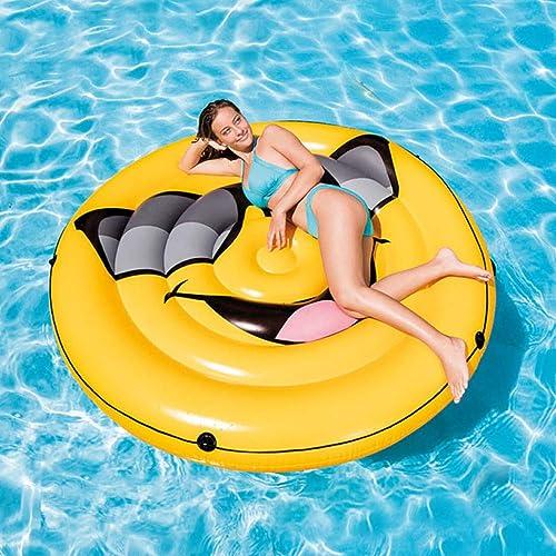DSFGHE Aufblasbare Smiley Pool Pool Float, Kinder Erwachsene Wasserspielzeug Giant Beach Parties Schwimmen Sitz Schwimmring