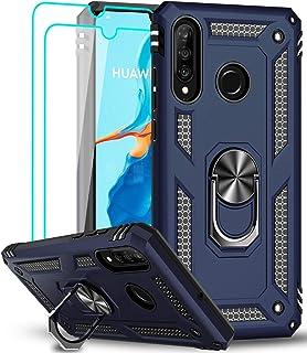 LeYi Funda Huawei P30 Lite / P30 Lite New Edition con [2-Unidades] Cristal Vidrio Templado,Armor Carcasa con 360 Grados An...