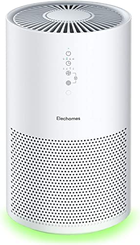 Elechomes EPI236 Air Purifier for Large Room with True H13 HEPA Filter, 22dB Quiet Air Cleaner for Pets, Smokers, Pol...