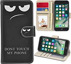 UrSpeedtekLive iPhone 7/iPhone 8 Premium PU Leather Funny Pattern Flip Wallet Case Cover w/Card Slots & Stand for iPhone 7/8 4.7 Inch,Don't Touch