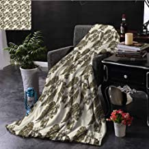 Elxmzwlob Blankets Nature Decor Beautiful Fur Throw Blanket Classic Country Style Like Design Grape Vineyard Flowers with Ivy Leaves Sketch (54