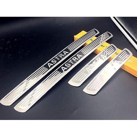 Tuqiang Car Decoration Door Sill Scuff Plate Door Sill Protectors 4D Carbon Fiber Sticker 4Pcs for Antara Astra Corsa Insignia Mokka