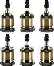 DOITOOL 6 Pcs Vintage E27 E26 Lamp Socket Aluminum Retro Pendant Lamp Holder Industrial Screw- in Lamp Socket for DIY Bulb...