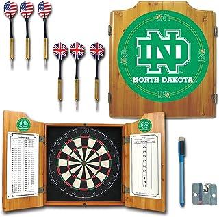 NCAA University of North Dakota Wood Dart Cabinet Set