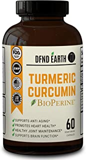 Turmeric Curcumin with Bioperine. High Potency Joint Pain Relief. Anti-Inflammatory, Antioxidant Supplement with 95% Standardized Curcuminoids. Non-GMO, Gluten Free with 10 milligrams of Black Pepper