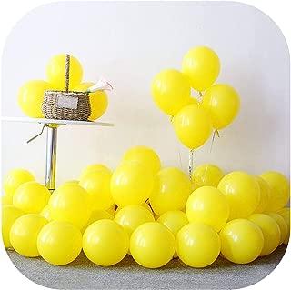 Eternity Bliss 10pcs 12inch 5inch Black Air Balls Happy Birthday Helium Latex Balloon Decoration Wedding Festival Balon Party Supplies,Matte D33 Yellow,1.0g 5inch Balloon